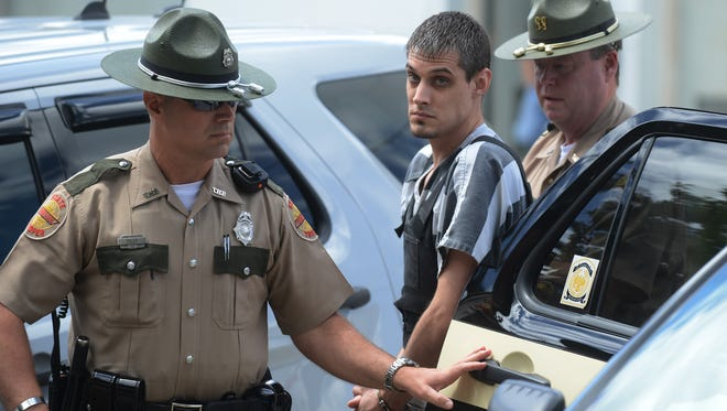 FILE PHOTO -- Zachary Adams appeared in Decatur County Circuit Court in Decaturville Wednesday. Adams had a status hearing on his murder and kidnapping charges and was arraigned on a charge of coercing a wtiness.