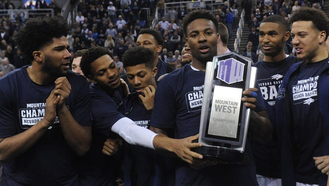 Nevada defeats Colorado State to win the MWC regular season title at Lawlor Events Center in Reno on Feb. 25, 2018.