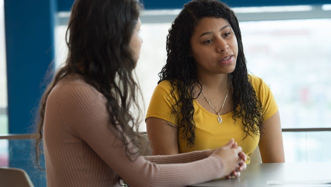 DREAMers Fernanda Lima, left, and Itzel Serrano are students at Delaware State University in Dover.