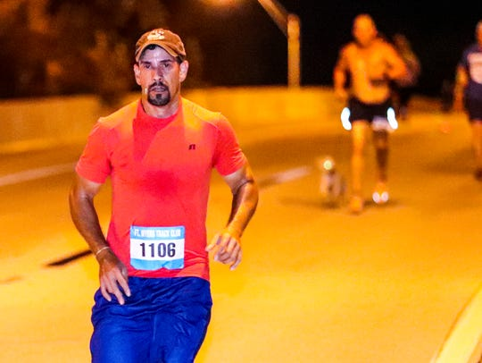 Fernando Moreaux ran in the Midpoint Madness Veteran's