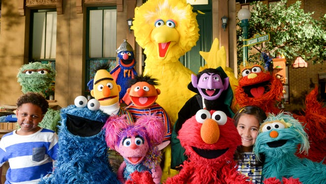 """Children join an ensemble of Muppets in the opening episde of season 46 of """"Sesame Street."""""""