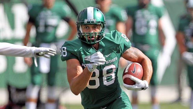 """Former South Salem High standout Maximo """"Junior"""" Espitia is Portland State's leading receiver this season."""