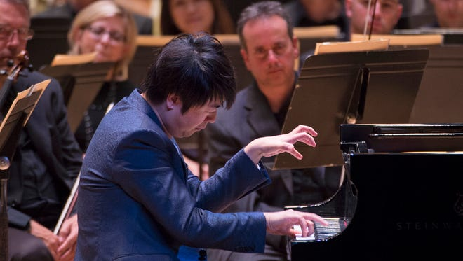 """Lang Lang performed a fiery """"Ritual Fire Dance"""" for an encore with the Cincinnati Symphony Orchestra."""