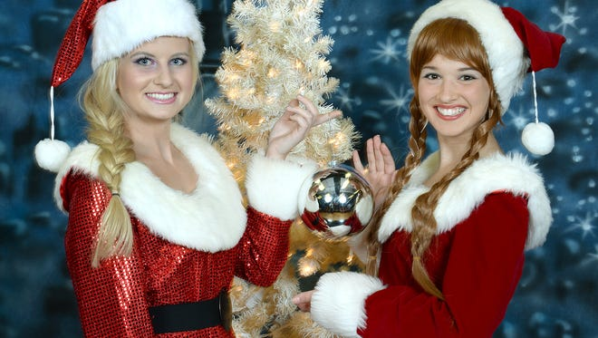"""Halle Shank, left, and Alexandria Hamill star in the Little Princess Playhouse Christmas show, """"Christmas at the Castle."""""""