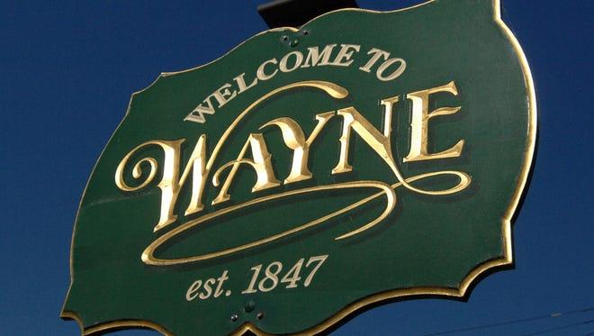 Wayne welcome sign.