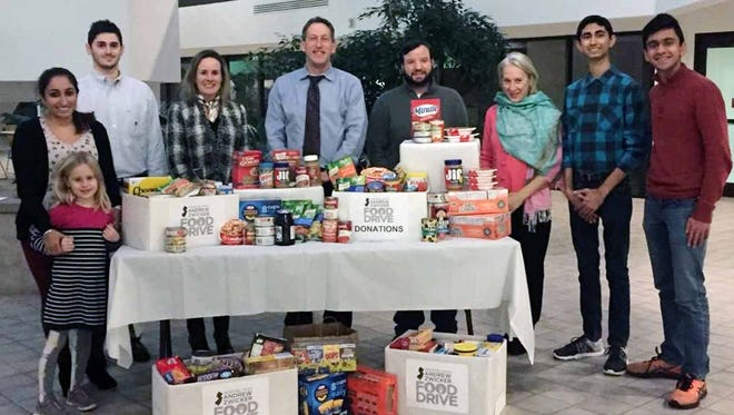 The legislative office of Assemblyman Andrew Zwicker has collected hundreds of non-perishable food items to donate to local food banks.
