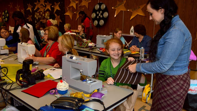 More than 75 youth, parents and volunteers converted the LSU AgCenter Grant Walker 4-H Educational Center into a sewing and creative arts school at 4-H Fashion Camp held Jan. 21-22.