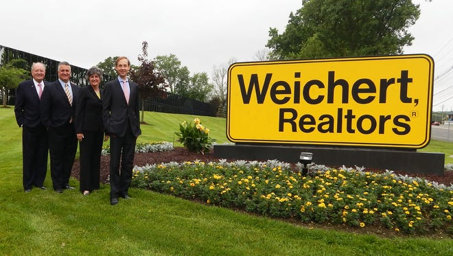 The top management team at Weichert: Jim Weichert, left, president, chairman and CEO of Weichert Companies, Bill Scavone, president and COO of Weichert Real Estate Affiliates, Inc., Denise Smith, president of Weichert Affiliates Services and James Weichert, president of Weichert, Realtors.