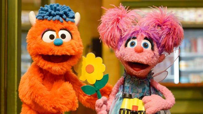 Rudy, left, is Abby Cadabby's stepbrother on 'Sesame Street.'