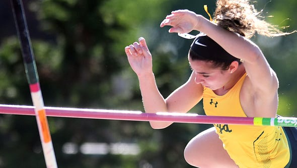 Red Bank Catholic's Tara Zeni competes in the Pole