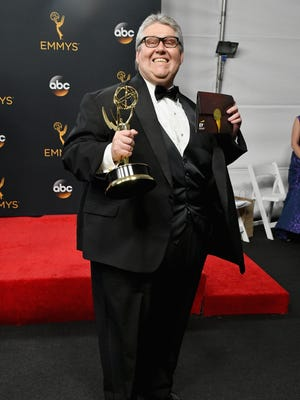 Producer David Mandel, winner of the oustanding comedy series award at the Emmys on Sunday.
