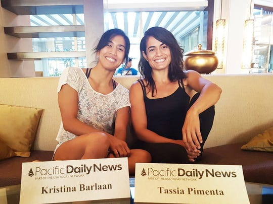 Kristina Barlaan and Tassia Pimenta relaxing the day before the Copa de Marianas Brazillian Jiu-Jitsu Competition