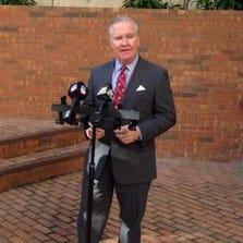 Tampa Mayor Bob Buckhorn speaks with the media after filing his paperwork to run for re-election.
