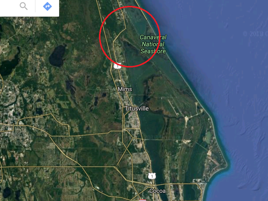 Where Merritt Island technically meets the mainland