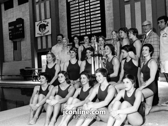 Jefferson High's girls swim team, which captured the