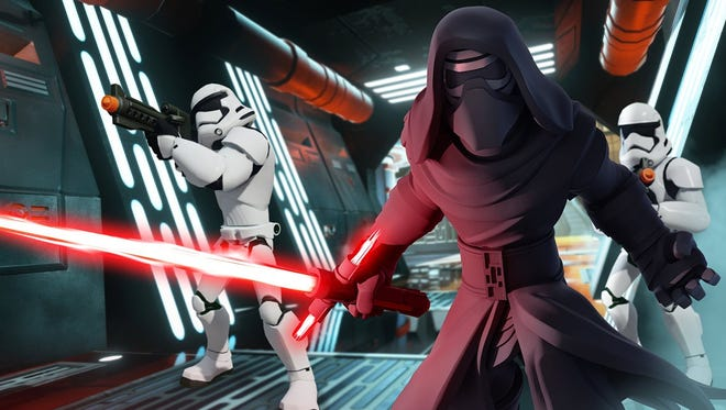 """Folks who buy the Kylo Ren figure will be able to play him in the """"Disney Infinity 3.0 Star Wars: The Force Awakens Play Set"""" expansion."""