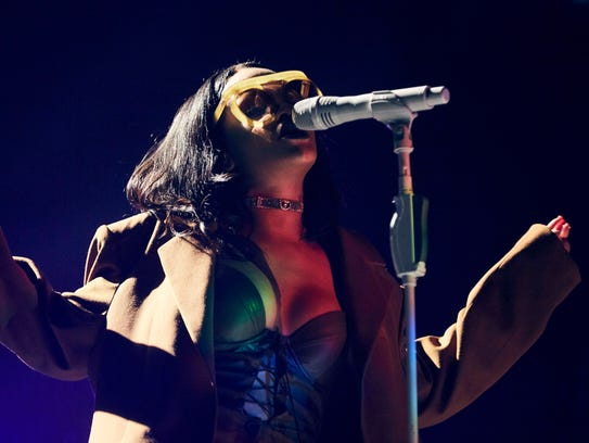 Rihanna performs at the Tampa stop of her Anti Tour.