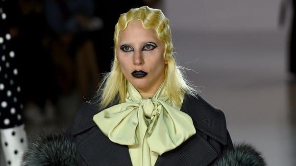 So much drama! Gaga models Marc Jacobs.