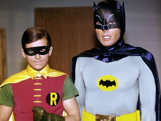 Burt Ward and Adam West as Batman and Robin from the