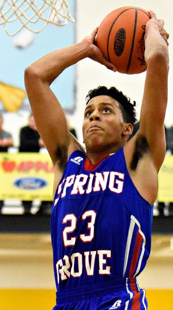 Spring Grove senior Eli Brooks was held to 16 points