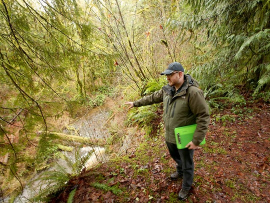 Erik Pedersen of Great Peninsula Conservancy discusses the importance of Curley Creek, which provides habitat for chum,coho, chinook and steelhead.