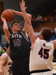 Faith Christian's Nate VanDokkenburg scored his 1,000th career point earlier this week.