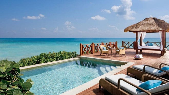 The Sanctuary at Cap Cana is a luxury resort in the Dominican Republic located right by the ocean.