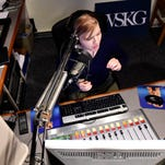 "Binghamton resident Monica Sandreczki, ""Morning Edition"" host, reports the news from the WSKG radio studio."