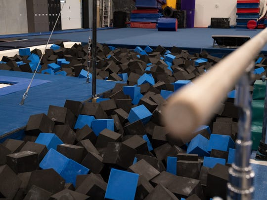 The gymnastics side of Spencer Johnson's new gym is