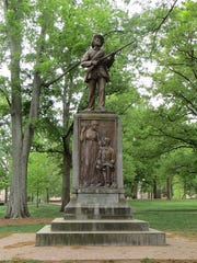 "The ""Silent Sam"" monument stood on the campus of the University of North Carolina, Chapel Hill, until the statue was toppled in August by protesting students."
