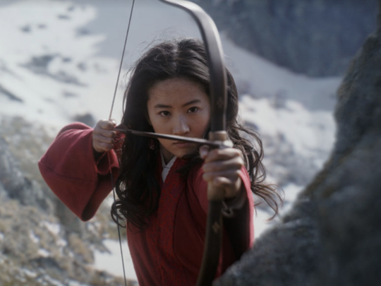"""A scene from the live-action film """"Mulan."""""""