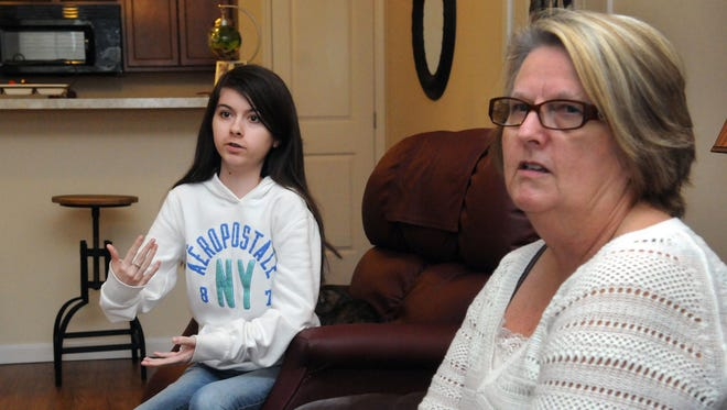 Ashlee Koch, left, and her grandmother, Jane Alten, are holding a fundraiser to get a service dog for Koch. Koch has congenital hereditary muscular dystrophy, and the service dog will help her with everyday tasks.