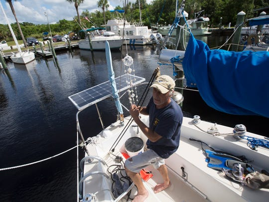 Johhny Maggard is a live aboard resident at Paradise Marina at Paradise Preserve in North Fort Myers. Paradise Preserve, formerly known at Lochmoor Country Club was recently sold again.  It is unknown what will happen to the land and golf club.