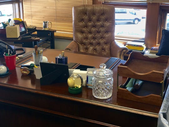 Arnold Palmer's desk is shown at Bay Hill Club & Lodge