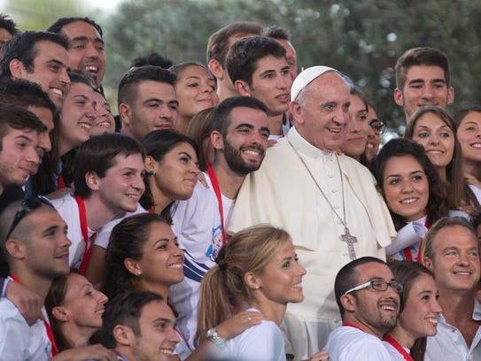 Pope Francis rarely turns down a chance to pose with