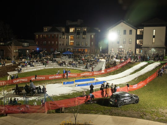 The scene is set for the 12th annual Rail Jam Friday night at Champlain College in Burlington.