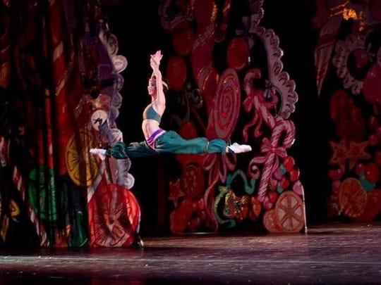 Emily Hutchinson danced the part of Arabian in a previous Nutcracker ballet performance.