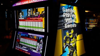 These video game gambling machines - such as Danger Zone - in Atlantic City are the first of their kind in the U.S.