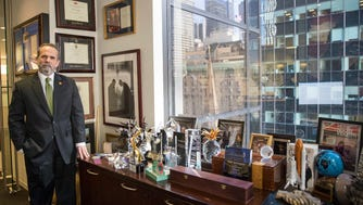 Trump Hotels CEO Eric Danziger poses for a portrait in his office at Trump Tower in New York. The Trumps are launching a new hotel chain in a bold expansion of a company that critics say is already too big and opaque for an owner who sits in the Oval Office. Called Scion, the aim is to open dozens in the next three years.
