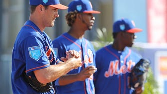 Seth Lugo (l) is fighting for a roster spot