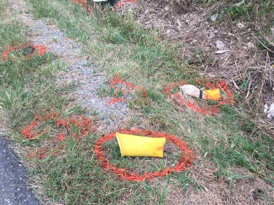 Work gloves and other objects lying near the scene of an accident have been identified by investigators.
