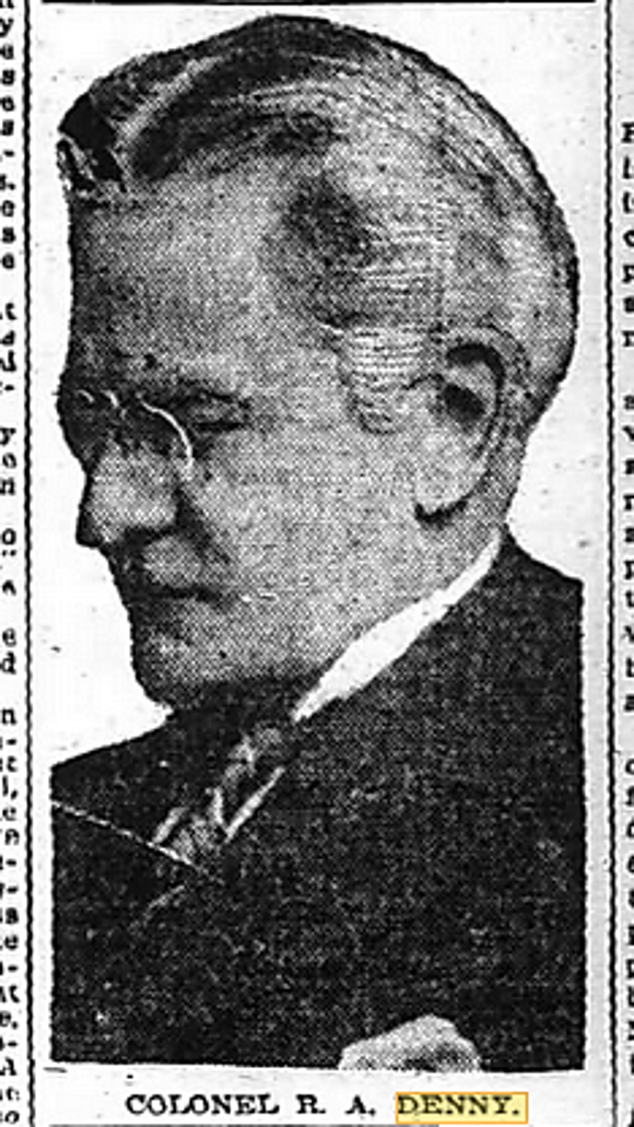 Image of Richard A. Denny, Sept. 27, 1919, issue of the Atlanta Constitution.