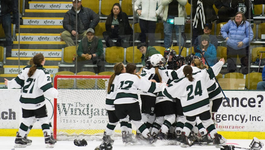 Stowe blanks Missisquoi 5-0 to capture first girls hockey title