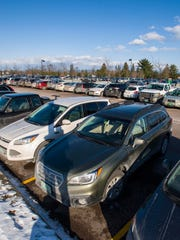 Parking lots for the University of Vermont and the University of Vermont Medical Center in Burlington seen on Wednesday, December 14, 2016.