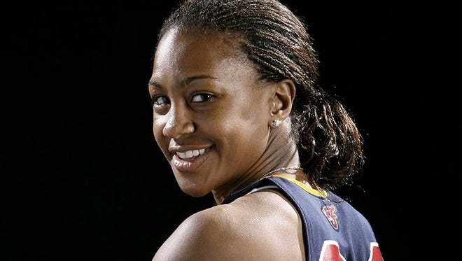 Indiana Fever player Tamika Catchings usually goes without makeup even when off the court. But changes are happening in her life -- and she got glammed up last week.