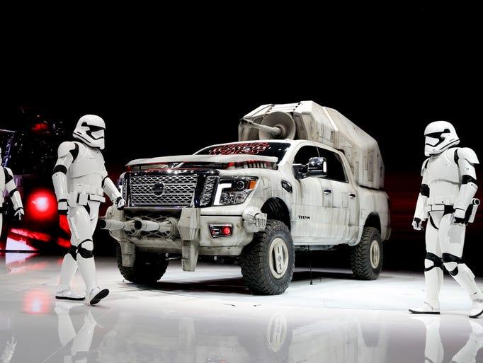 """The """"Star Wars""""-themed Nissan Titan custom truck is"""