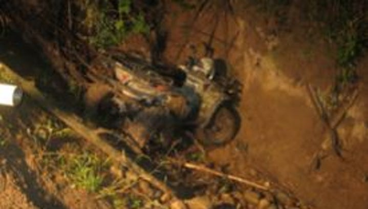 A Saranac man died after this ATV went over the edge of a Ravine