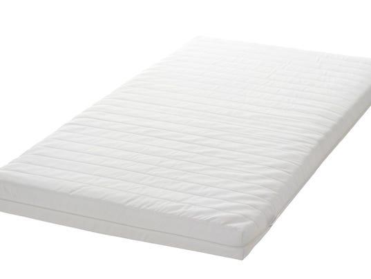 ikea crib mattressess pose entrapment risk