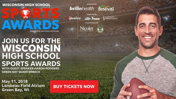 Aaron Rodgers will be the guest speaker at the Wisconsin