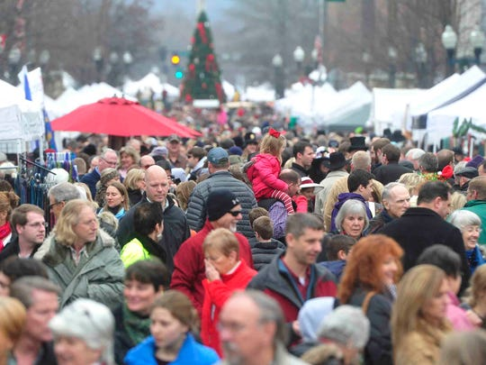 Hundreds attended Dickens of a Christmas in downtown Franklin, Tenn. December 13, 2014.